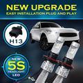 Partol 72W H4 H13 Hi-Lo Beam H7 Single Beam LED Car Headlight Bulbs With Driver 8000LM Bright White 6500K LED Driving Light 12V