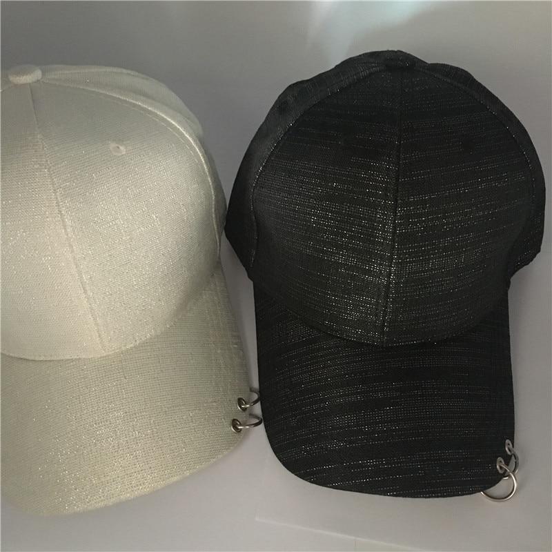 Hot jual 2017 Mode K POP Cincin Besi MENAMBAHKAN Perak bubuk Topi  adjustable Baseball cap 100% handmade rings oleh penjual di Topi Baseball  dari Aksesoris ... 9ded07709e03