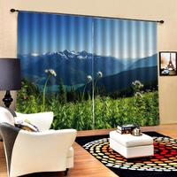 nature scenery Curtain Luxury Blackout 3D Window Curtains For Living Room Bedroom Drapes Cortina green landscape curtain