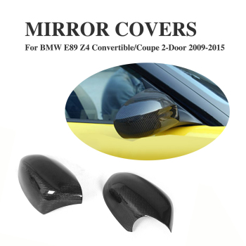Carbon Fiber Side Wing Mirror Covers for BMW E89 Z4 2-Door 2009-2015 Add on style Rearview Mirror Caps Car styling 2PCS image