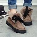 Nuevo Invierno de Terciopelo de la Felpa Martin Botas Mujer Botas de Nieve Caliente Botas de Moda de Corea Casual Zapatos Mujer Zapatos Mujer X087