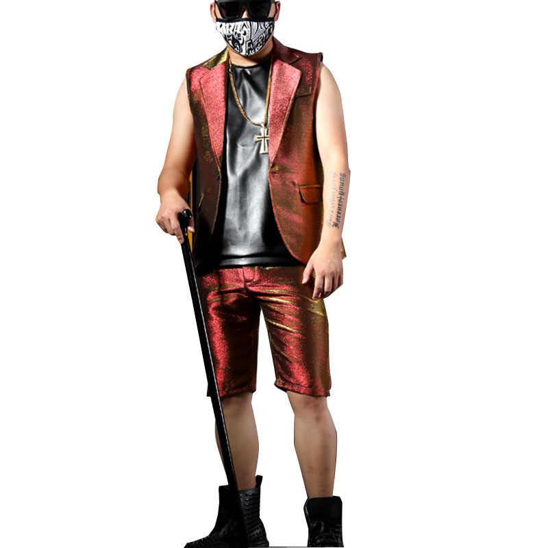 Homens Brilhantes Casuais Ternos Blazer Personalizado Feito Palco Cantora de Boate DJ Dançarino Traje Masculino Moda Hip Hip Terno Jaqueta