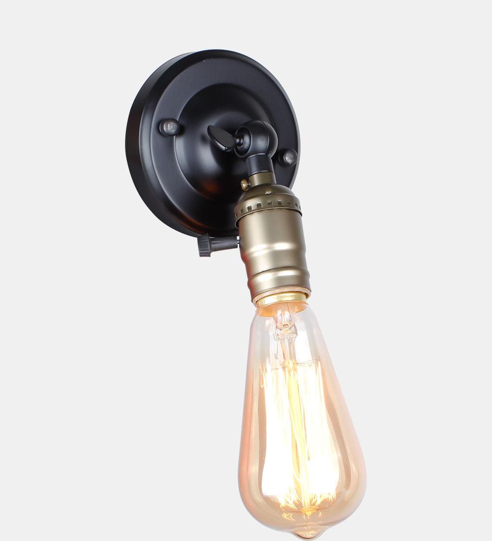 Retro Industrial Black Mini Wall Light Knob Switch Frisky Lighting Wire Related Loft Style Lightseptember
