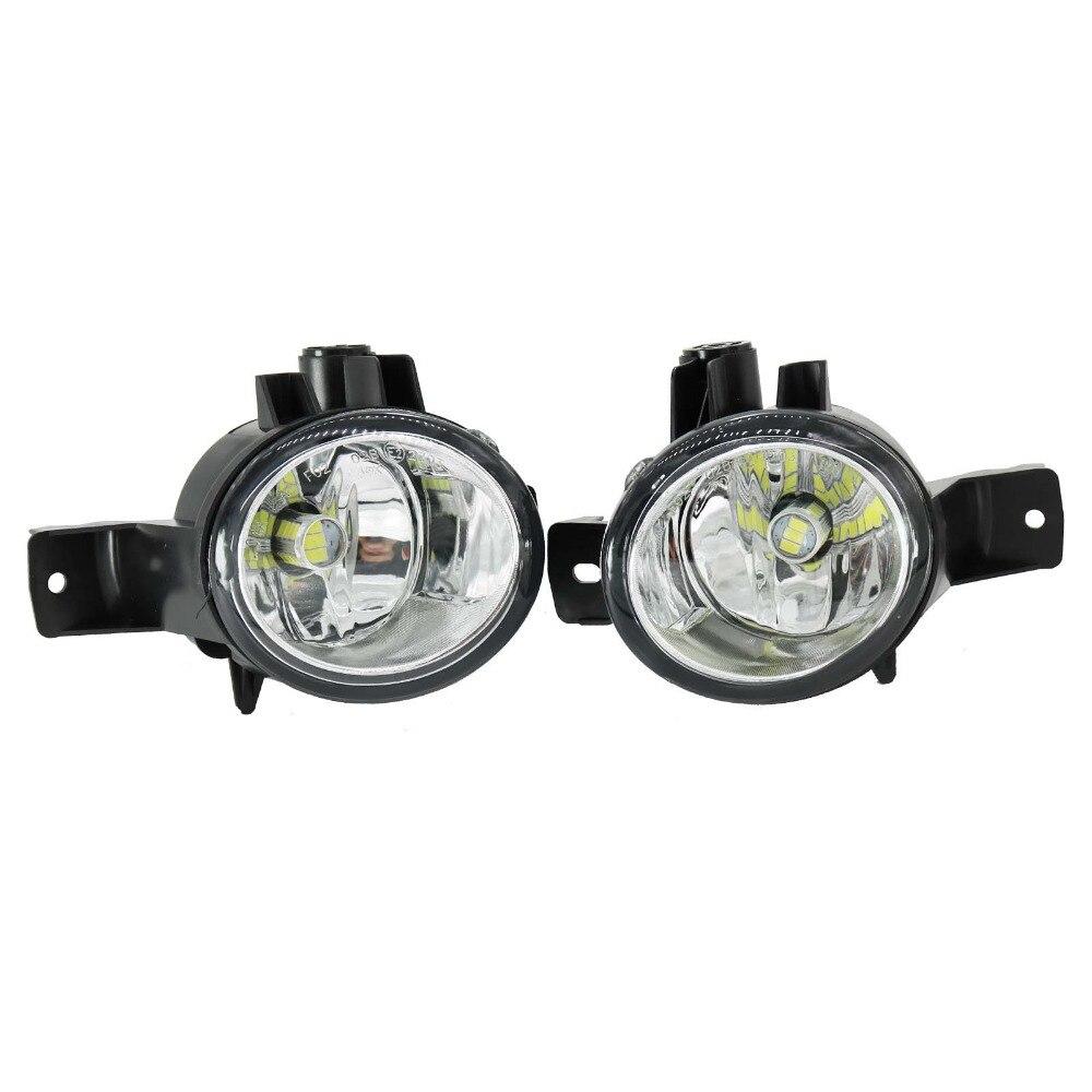 2 Pcs Para BMW X6 E71 E72 2008 2009 2010 2011 2012 LED Frente Nevoeiro Luz de Nevoeiro Lâmpada Lâmpadas LED