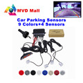 Full Set Car Parking Sensor Monitor Auto Reverse Backup Radar Detector System 4 Sensors Car Parking Assistance LED Display