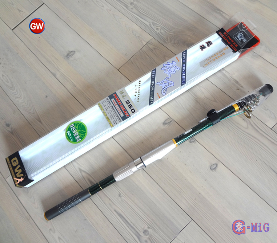 MiG Typhoon Superhard Carbon Fiber Telescopic Rod Casting Fishing Rod 2.1 2.4 2.7 3.0 3.6 Meter Sea Pole