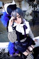 Black Butler Kuroshitsuji Ciel Phantomhive Circus Cosplay Party Costume Customized Size