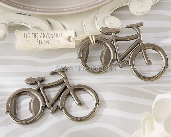 wedding favor gift and giveaways-- Lets Go On an Adventure Bicycle Bottle Opener party favor souvenir 50pcs/lot