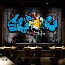 Papel pintado De pared 3D personalizado calle retro Graffiti pared artística pintura Café Bar KTV decoración De fondo De pared Mural De pared