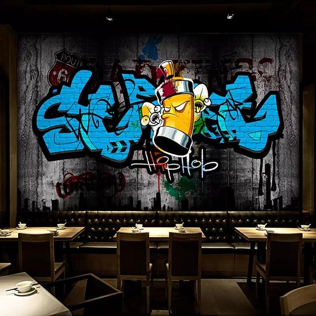 Custom 3d Wall Murals Wallpaper Retro Street Graffiti Art Wall