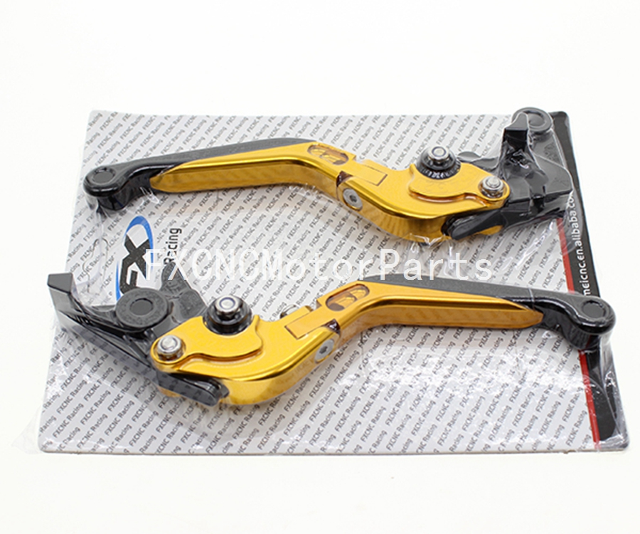 For Honda CBR 600 F2 F3 F4 F4i 1991-2007 Gold One Pair CNC Folding Extendable Brake Clutch Levers Motorcycle carbon brake clutch levers for honda nsr250 pgm2 pgm3 pgm4 rvf400 shadow 600 750 1100 cbr 600 f2 f3 f4 f4i cbr900rr magna 750