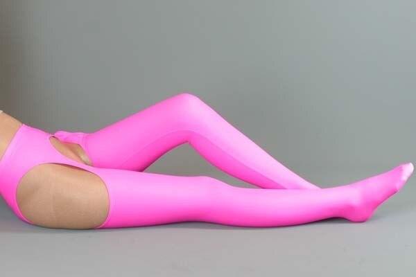 Mujer Rosa Sexy ropa interior de Lycra + mercerizado Muslo Calcetines traje