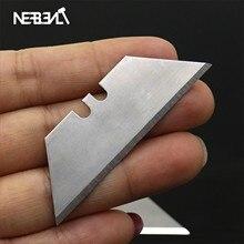 10 шт. складной трапециевидный режущий нож художественный нож для резки ковровых покрытий сменный Универсальный специальный электрик нож t-лезвие