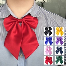 Fashion Women Girls Silk Blend Bow Tie Butterfly Neckwear Pre-Tied Adjustable Necktie Bowtie Party Banquet Gift Solid Color