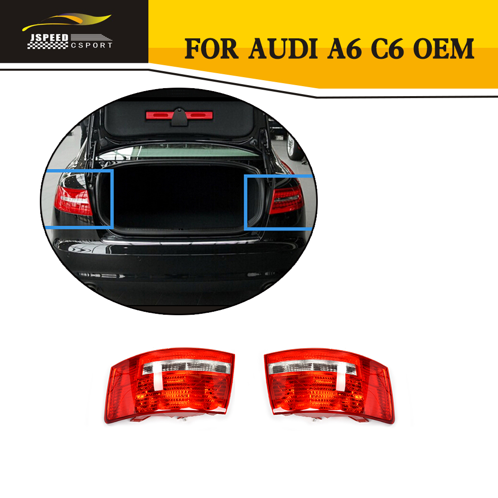 ФОТО 1PCS ABS A6 C6 Rear Lamp Car Styling Tail Lamp For Audi A6 C6 OEM NO.4F5945096D