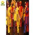 Halloween Party Косплей Клоун Равномерное Харли Квинн Костюм для Взрослых Мужчин и Женщин Может Выбрать Любой Размер и Цвет