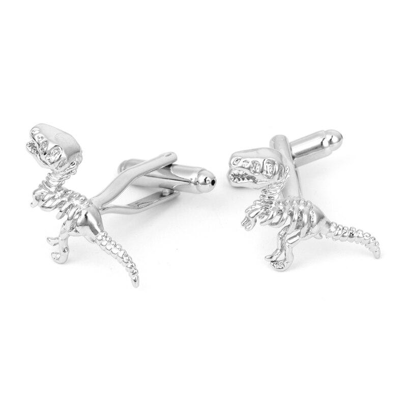 1 Para Gentleman Männer Dinosaur Skeleton Knochen Manschettenknöpfe Manschettenknopf