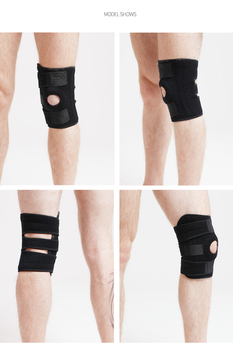 Sports Knee Protector Four Spring Mountaineering Knee Protector Anti Skid Sports Knee Protector Outdoor Cycling Sports Protector in Elbow Knee Pads from Sports Entertainment