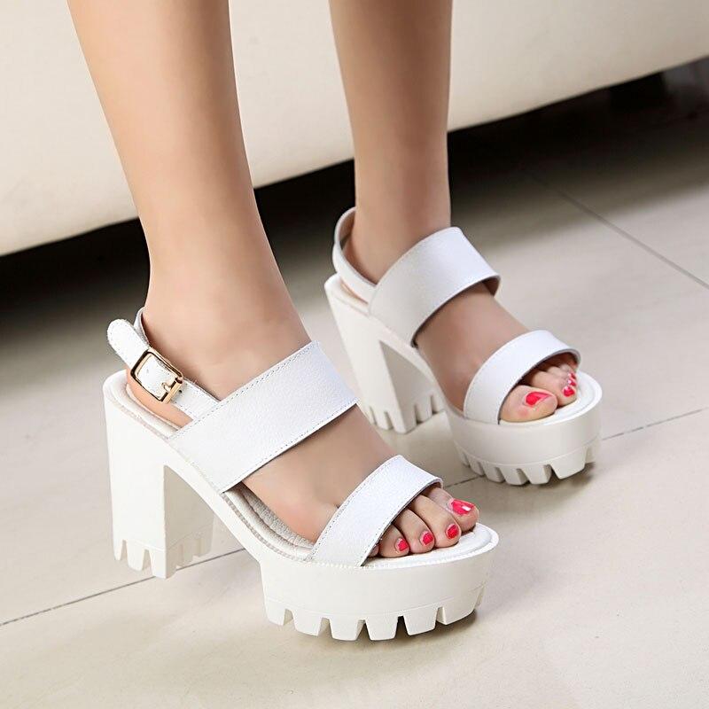 Aliexpress.com : Buy New Style Roman Back Strap Open Toe Platform ...