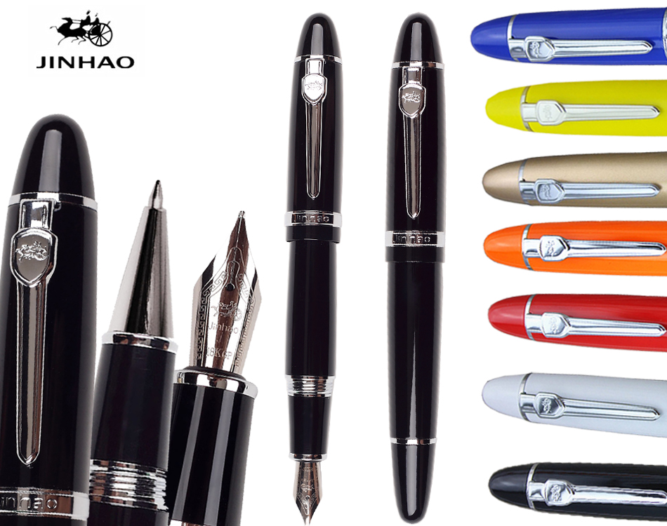 0.7 M Nib  Fountain pen or  RollerBall pen  JINHAO 159  signature pens office and school stationery Free shipping italic nib art fountain pen arabic calligraphy black pen line width 1 1mm to 3 0mm