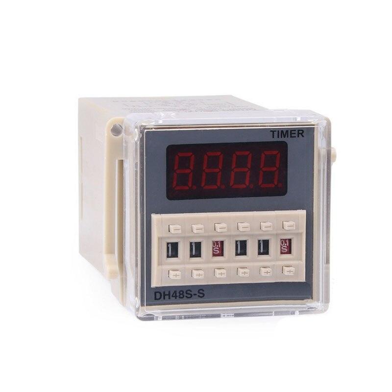 DH48S-S AC 220 V cycle de répétition SPDT relais de temps avec prise DH48S série 220VAC retard minuterie avec base