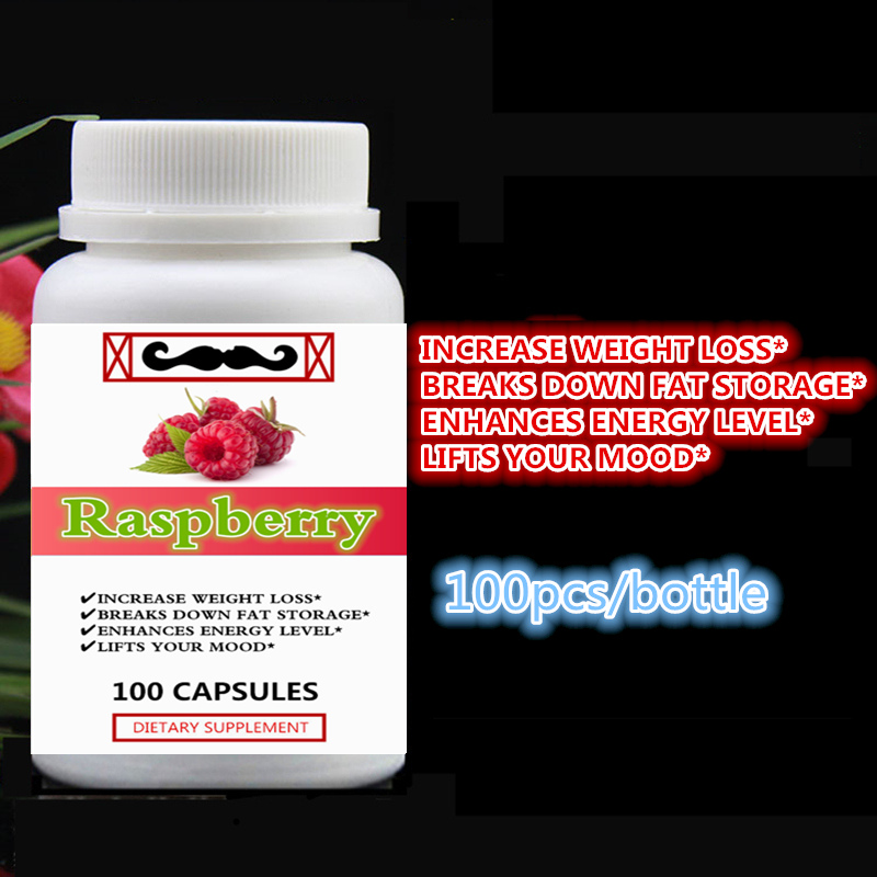 Pure Raspberry Ketones Extract Increase Weight Loss Breaks Down Fat Storage Enhances Energy Level Lifts Your Mood 100pcs/bottlePure Raspberry Ketones Extract Increase Weight Loss Breaks Down Fat Storage Enhances Energy Level Lifts Your Mood 100pcs/bottle