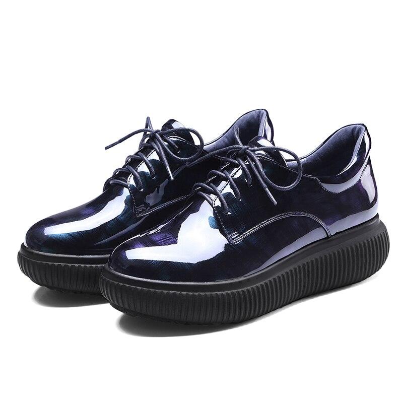 Mode Femmes Wetkiss 42 Appartements Bleu Printemps 34 Plat Rond Chaussures Grande Casual Dentelle Up forme Dames Bout Nouvelles Taille Plate 1RRwqAgxf7