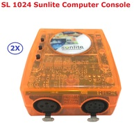 2XLot Classic Virtual Dj DMX Controller Sunlite 1024 USB Universal Serial Bus With Intelligent PC Software