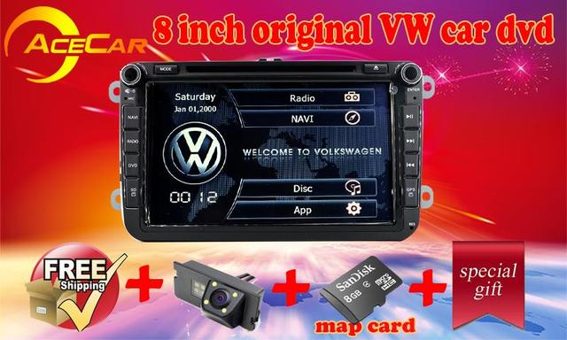 US $220 92 |Free Maps Rear camera Russia Warehouese 8 inch RNS510 rcd510  car dvd For VW SCIROCCO BEETLE T5 support doors AC 3g wifi -in Car  Multimedia