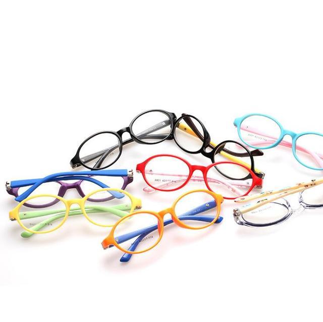 7fa13004fb Kids Frames Eyewear Optical Eyeglasses Round Glasses for Children Boys  Girls Prescription Lense Oculos Infantil TR 8801
