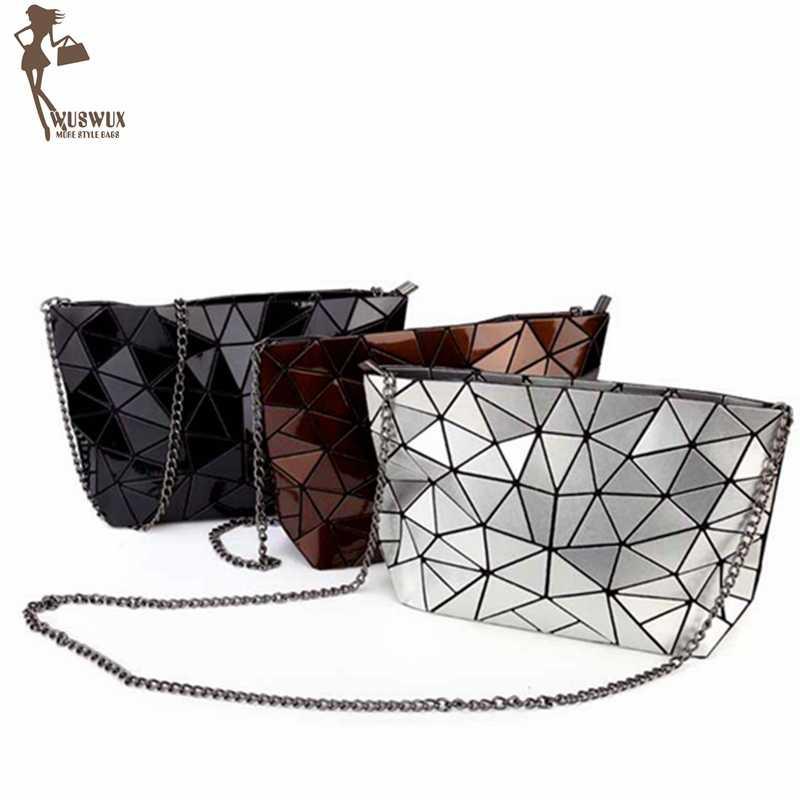 6a4624677efc НОВЫЕ геометрические камень качество PU женщин сумка цепи моде женщины  посланник сумки повседневные Кроссбоди сумочка клатч