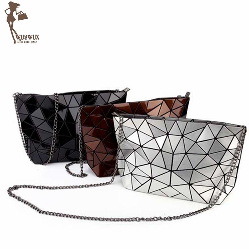 New Geometric Stone Quality PU Women Bag Fashion Chain Women Messenger Bags Casual Crossbody Handbag Shoulder Clutch Female Tote