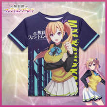 Anime Myriad Colors Phantom World T-shirt Kawakami Mai Sigtuna Polyester T Shirt Summer Active Otaku Men Women Tops