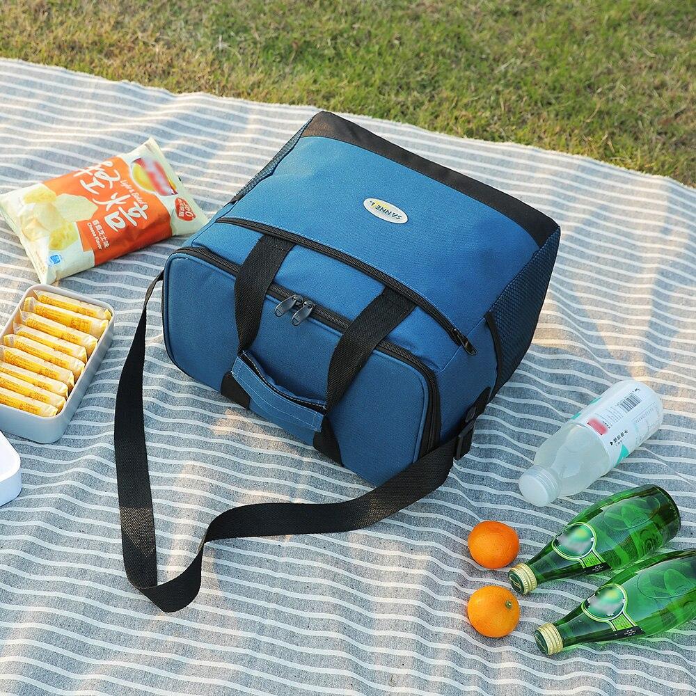 Image 3 - Lixada 16L bolsa aislante para exteriores, bolsa de almuerzo, bolsa térmica Bento, Camping al aire libre, barbacoa, Picnic, frescura alimentaria, refrigerador de alimentosBolsas de picnic   -
