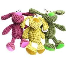Hot 5 colors for choose 35cm Pixel Pups Puppy Chew Squeaker Squeaky Plush Pet Toys For Dogs