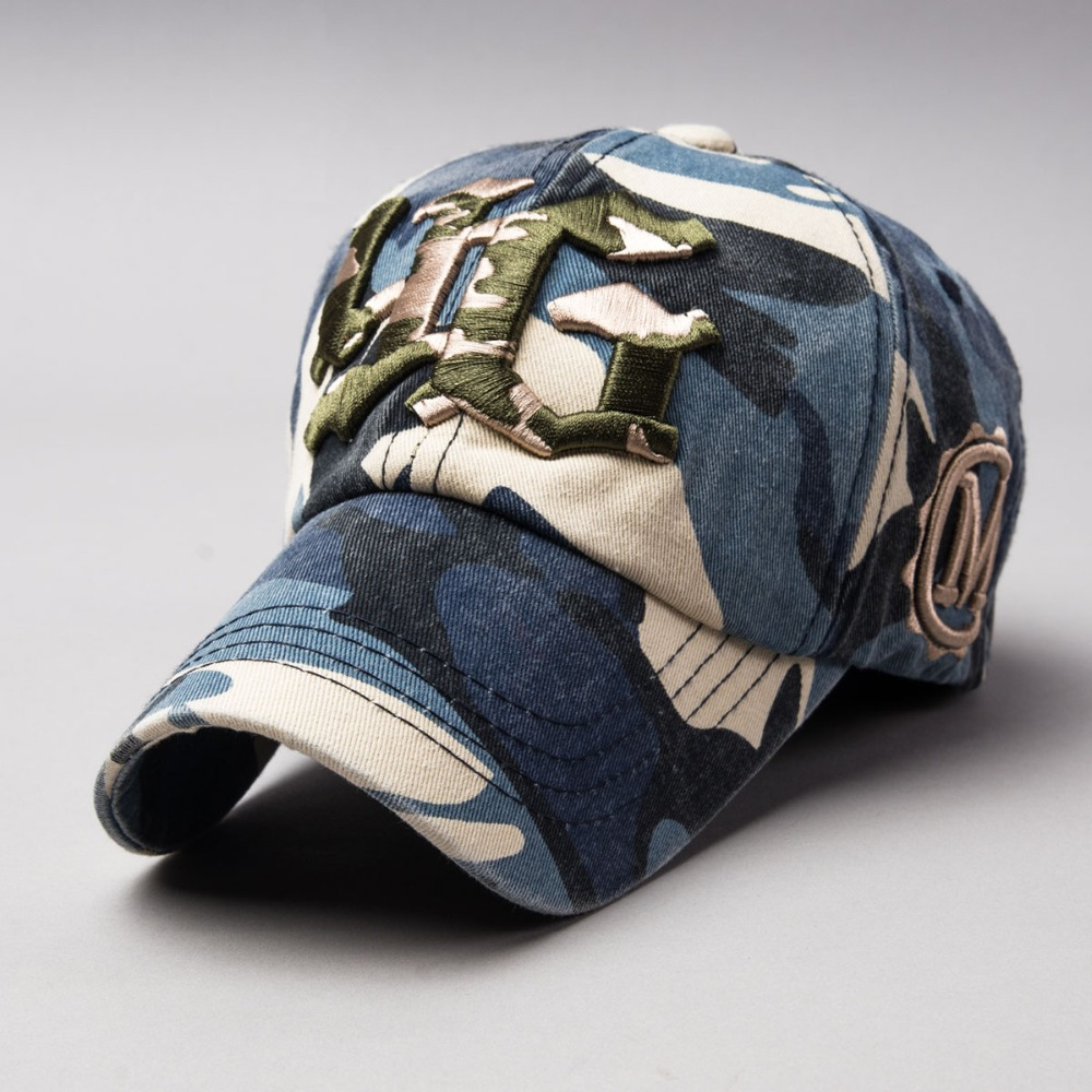cee66efefda 2016 New Army Camo Baseball Caps Women and Men Summer OutdoorYG 3d  embroidery hat Top Quality Cotton Peaked Sun Hats-in Baseball Caps from  Men s Clothing   ...