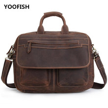 Men square Retro style Messenger Bag Business Casual Briefcase Crossbody bag male shoulder  free shipping