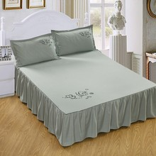 Solid Color Bed Skirts Queen Size Polyester Cotton 1pcs Comfortable Soft Multi color Home Bed Covering
