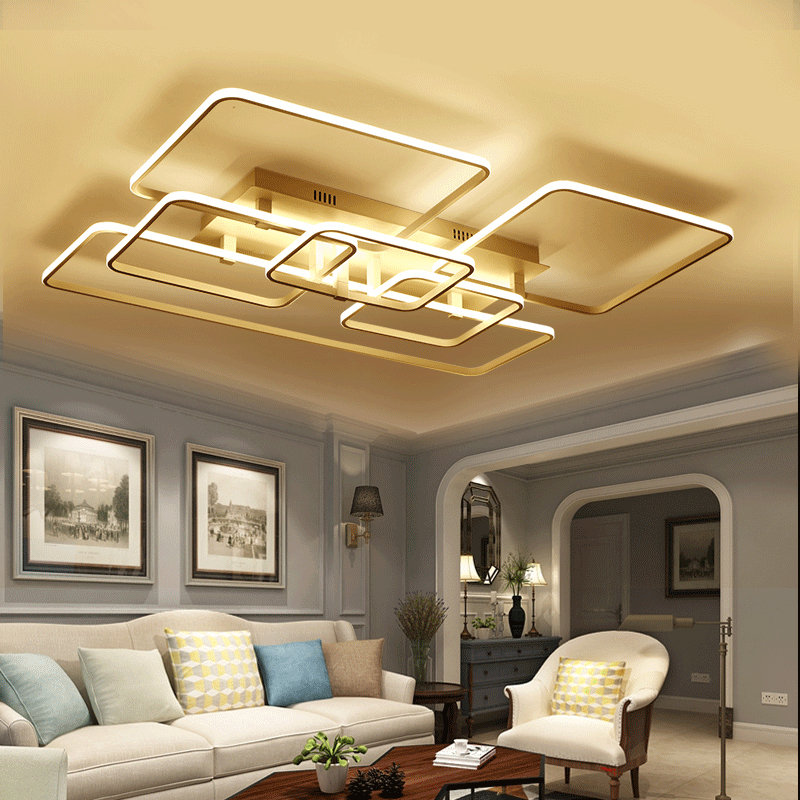 Modern led ceiling light aluminum acrylic interior simple ceiling lighting fixture Surface mounted indoor lighting