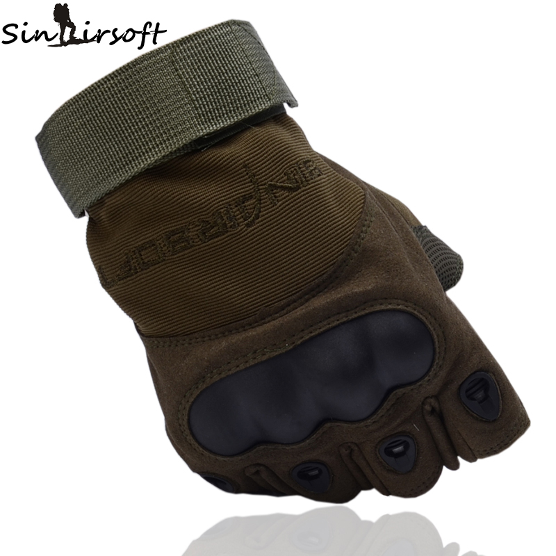 SINAIRSOFT Outdoor Climbing Gloves Sport Camping Hiking Riding Armor Tactical Mens Half Finger Gloves