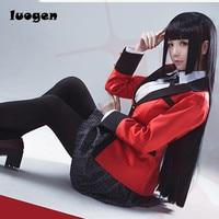 Anime Kakegurui Yumeko Jabami Cosplay Costumes Japanese School Girls Uniform Full Set Jacket Shirt Skirt Stockings