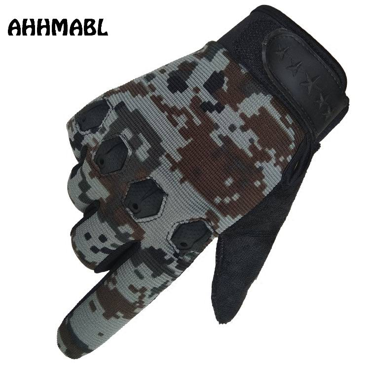 Men's Gloves Bright Tactical Full Finger Gloves Sports Military Shooting Mens Mittens Camouflage Biker Combat Armor Protection Shell Sitka G543 Good For Antipyretic And Throat Soother