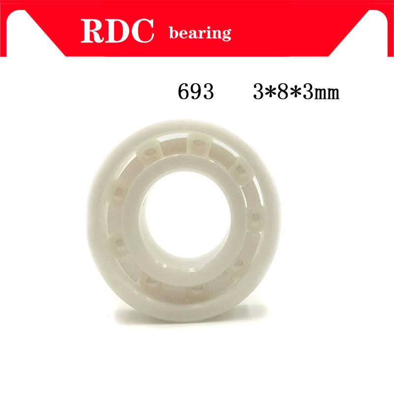 Free Shipping  693 3x8x3mm High quality full ZrO2 ceramic ball bearing zirconia bearing 3*8*3mm Factory sales