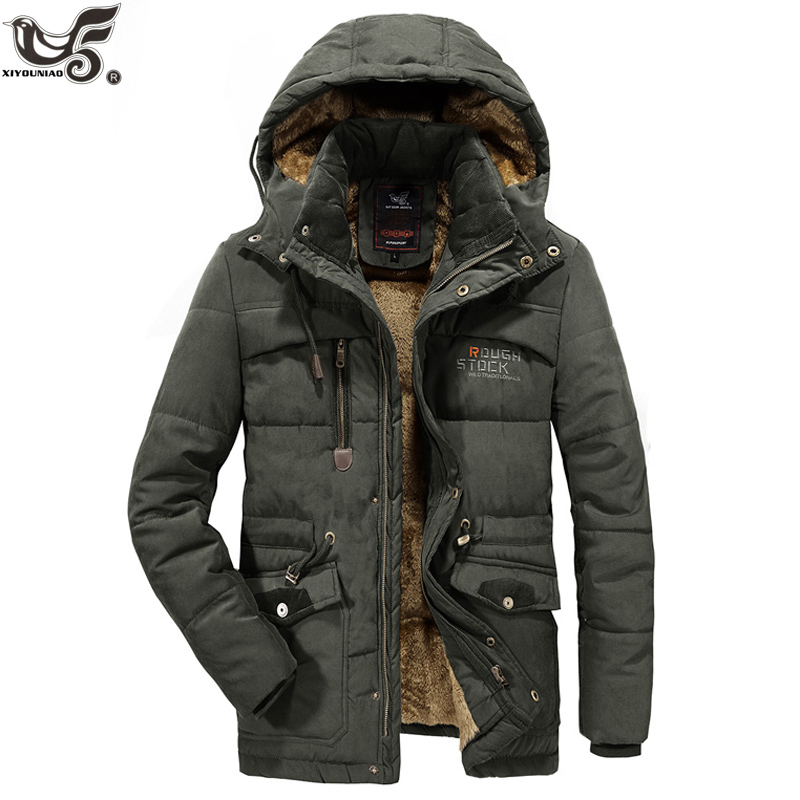 XIYOUNIAO Plus Size L~7XL 8XL Winter Parka Men Jacket Coat Male Thick Cotton-Padded Windbreaker Warm -30 Degrees Snow Overcoat