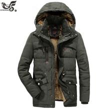 Xiyouniaoプラスサイズl〜 7XL 8XL冬パーカー男性ジャケットコート男性厚い綿が詰めウインドブレーカーウォーム 30 度の雪のオーバーコート