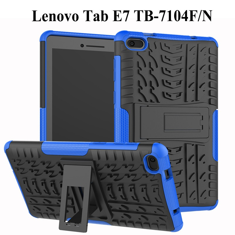 Heavy Duty 2 in 1 Hybrid Rugged Case For Lenovo Tab E7 2018 Tablet Funda Cover For Lenovo 7104 TB-7104F 7 inch case+Film+Pen(China)