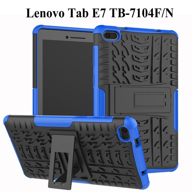 Heavy Duty 2 In 1 Hybrid Rugged Case For Lenovo Tab E7 2018 Tablet Funda Cover For Lenovo 7104 TB-7104F 7 Inch Case+Film+Pen