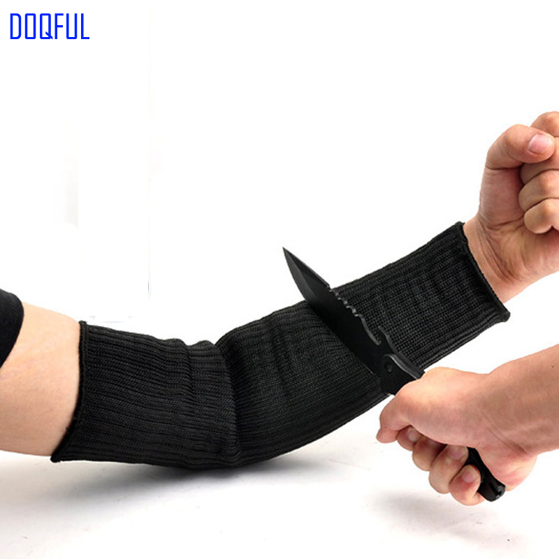 Steel Wire Safety Cut Proof Arm Sleeve Anti Knife Guard Bracer Stabproof Armband Work Labor Protection Anti Abrasion