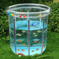 Large Transparent Baby Infant Swimming Pool PVC Inflatable Pool Child Toddler Water Playing Game Pool Baby Bath Pool