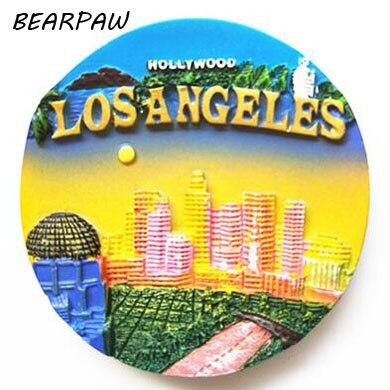 1 шт./компл. милый Нью-Йорк Лос-Анджелес Магниты на холодильник США туристический сувенир 3D ручной работы холодильник магнитная Наклейки под... ...